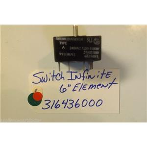 FRIGIDAIRE STOVE 316436000 Switch,infinite , 6`` Element   used part