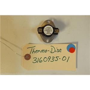 KENMORE STOVE 3160935-01  Thermo disc  used