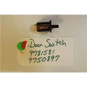 KITCHENAID STOVE 9781581  9750897  Door Switch USED PART