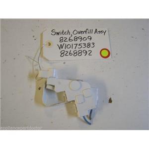 WHIRLPOOL DISHWASHER 8268909 W10175383 8268892 OVERFILL CNTRL SWITCH W/ LEVER