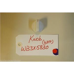 GE STOVE WB3X5830 Knob white  USED PART