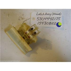 White Consolidated dishwasher 5304442175 154308102 Latch Assy, Almond used part
