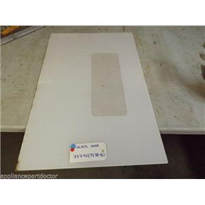 MAGIC CHEF STOVE 777902P278-60 Glass Door WHITE SMALL MARKS   used part