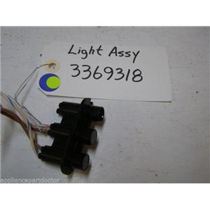 WHIRLPOOL DISHWASHER 3369318 Light USED PART ASSEMBLY