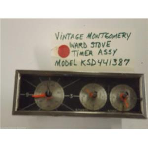 Model KSD441387 Vintage Montgomery Ward Stove Timer USED