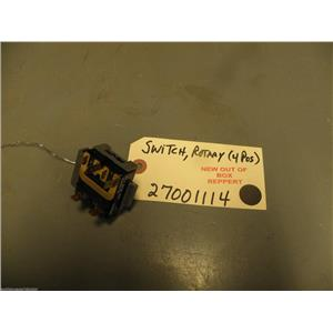 Maytag Crosley Washer  27001114  Switch, Rotary (4 Pos)  NEW W/O BOX