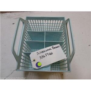WHIRLPOOL DISHWASHER 3368966 SILVERWARE BASKET USED PART ASSEMBLY
