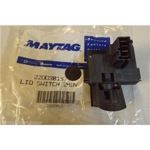 MAYTAG WASHER 22003813 LID SWITCH 240V   NEW IN BOX
