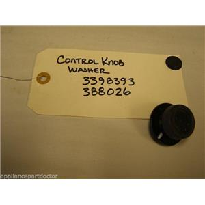 ROPER WASHER 3398393 388026 BLACK CONTROL KNOB USED PART ASSEMBLY