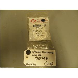 Whirlpool Kitchen Aid Washer 285743 Transmission Coupler  NEW IN BOX
