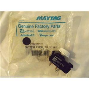 MAYTAG WASHER 22002273 Switch, Push To Start (wht)    NEW IN BOX