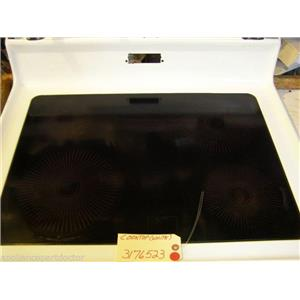 WHIRLPOOL STOVE  3176523  Cooktop (white) SCRATHES/FINISH LOSS  USED
