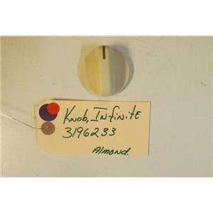 WHIRLPOOL STOVE 3196233     Knob, Infinite   almond    used