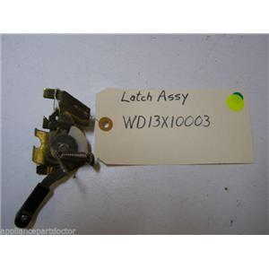 GE DISHWASHER WD13X10003 LATCH USED PART ASSEMBLY