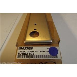 MAYTAG WHIRLPOOL REFRIGERATOR 67002194 Trim, Dr Bottom (stnls) NEW IN BOX