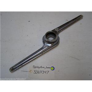 WHIRLPOOL DISHWASHER 3369347 Sprayarm, Lower  USED PART ASSEMBLY