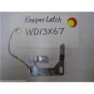 GE DISHWASHER WD13X67 LATCH KEEPER USED PART ASSEMBLY