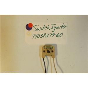 MAYTAG STOVE 7403P279-60 Switch, Igniter    used
