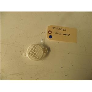 WHIRLPOOL WASHER 8183030 VENTILATION GRID USED PART ASSEMBLY