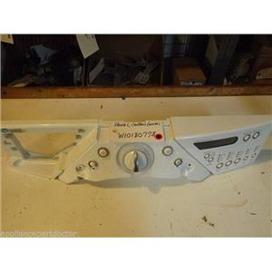 WHIRLPOOL WASHER W10180778   W10319815  W10164402 Panel, Control (white) used