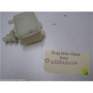 GE DISHWASHER WD22X10024 BODY & CHECK VALVE USED PART ASSEMBLY