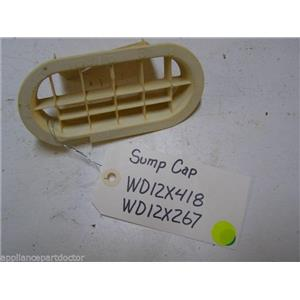 GE DISHWASHER WD12X418 WD12X267 SUMP CAP USED PART ASSEMBLY