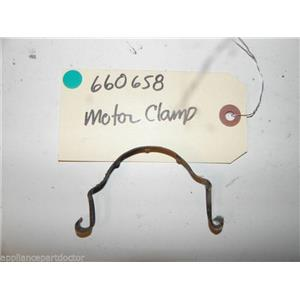 WHIRLPOOL GAS DRYER 660658 MOTOR CLAMP USED PART ASSEMBLY