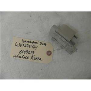 WHIRLPOOL DUET FRONT LOAD WASHER  W10326464 8183019 INTERFACE FILTER