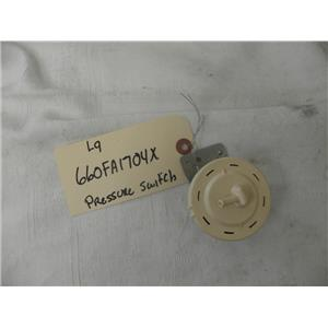 LG FRONT LOADER  WASHER 6600FA1704X PRESSURE SWITCH ASSEMBLY