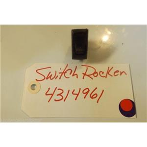 WHIRLPOOL  STOVE 4314961 Switch, Rocker  USED PART