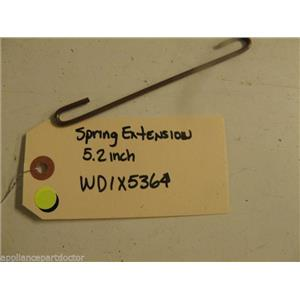 """HOTPOINT DISHWASHER WD1X5364 5.2"""" EXTENSION SPRING USED PART ASSEMBLY F/S"""