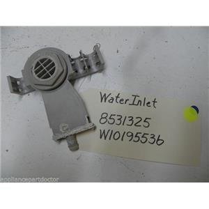 KENMORE DISHWASHER W10195536 8531325 WATER INLET USED PART ASSEMBLY