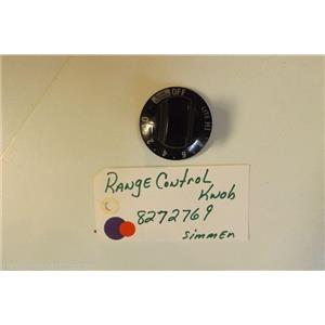 KENMORE STOVE 8272769    Range control knob  simmer   USED