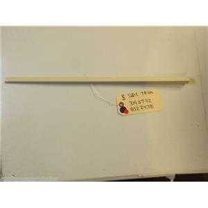 WHIRLPOOL STOVE 3195972 8522438 Trim, Side (right Hand Almond)   used