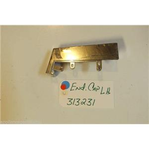 WHIRLPOOL STOVE 313231 End Cap L.h.   USED PART