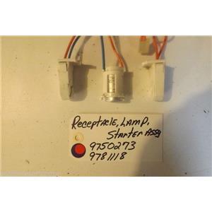 KITCHENAID STOVE  9750273  9781118  Receptacle, Lamp, Starter used part