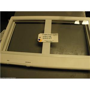 Maytag  Refrigerator 61002128 61002125 Crisper Shelf w/ glass used part assembly