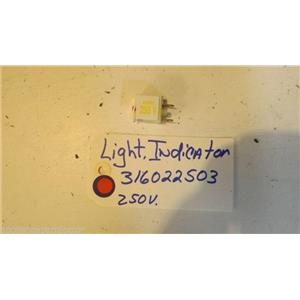 TAPPAN  STOVE 316022503 Light-indicator,250v used part