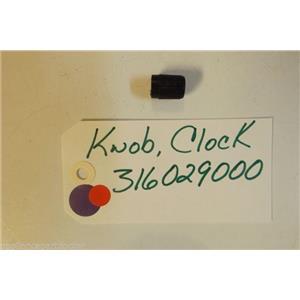 FRIGIDAIRE STOVE 316029000 Knob-clock  used part
