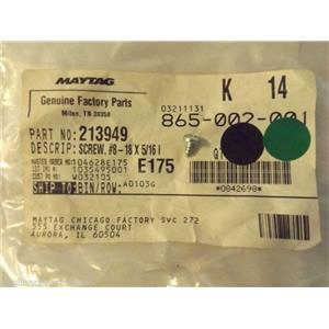MAYTAG WASHER/DRYER 213949  Y700725  Screw (no.8-18 X 5/16``)    NEW IN BAG