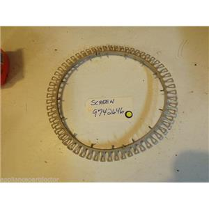 KENMORE DISHWASHER 9742646  Screen   used part
