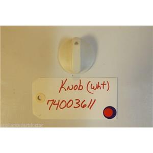 MAYTAG STOVE 74003611 Knob wht   USED PART