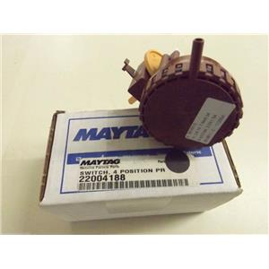 Maytag Washer  22004188  Switch, 4 Position Pressure NEW IN BOX