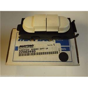 Maytag Washer  22003493  Switch, Rinse OPT  4 Button NEW IN BOX