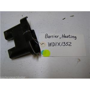 GE DISHWASHER WD1X1352 HEATING ELEMENT BARRIER USED PART ASSEMBLY