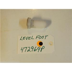 Fisher Paykel  Washer 472969P  Level Foot  used part
