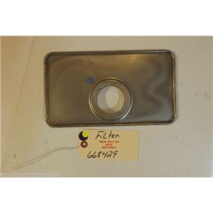 BOSCH DISHWASHER 668429  Filter    NEW W/O BOX