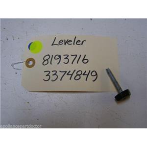 WHIRLPOOL DISHWASHER 8193716 3374849 LEVELER USED PART ASSEMBLY