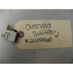 WHIRLPOOL 2 DOOR REFRIGERATOR 2149960 2154945 2149994 OVERLOAD SWITCH USED PART