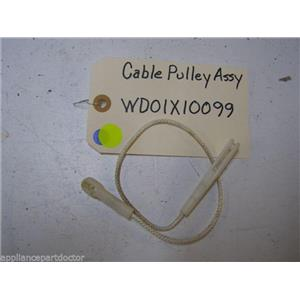 GE DISHWASHER WD01X10099 PULLEY CABLE USED PART ASSEMBLY